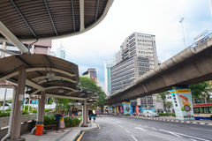 Pudu bus stop in Kuala Lumpur city center Royalty Free Stock Photo
