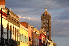 Puebla architecture  Royalty Free Stock Images