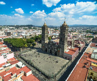 Puebla cathedral Royalty Free Stock Photography