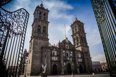 Puebla Cathedral Stock Photography