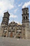 Puebla Cathedral Facade stock images
