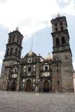 Puebla cathedral, Mexico. Facade of the cathedral of Puebla, Mexico Stock Image