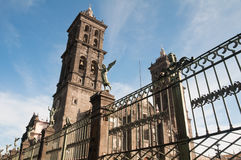 Puebla cathedral, Mexico Stock Photography