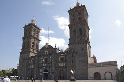 Puebla Cathedral Royalty Free Stock Photo