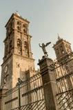 Puebla Cathedral at night - Puebla, Mexico Stock Photos