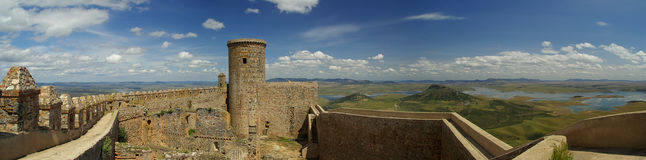 Puebla de Alcocer Castillo Royalty Free Stock Photo