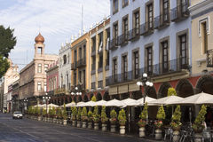 Puebla de stad in royalty-vrije stock foto
