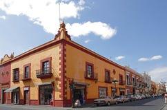 Puebla de Zaragoza. PUEBLA, Mexico - NOVEMBER 27: Street of Puebla de Zaragoza on November 27, 2011 Mexico. Puebla de Zaragoza is the capital and largest city of Royalty Free Stock Image