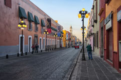 Puebla de Zaragoza in the morning Royalty Free Stock Photography