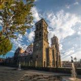 Puebla domkyrka - Puebla, Mexico Royaltyfria Foton