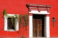 Puebla facade. Ancient facade of the city of puebla, mexico Royalty Free Stock Photo