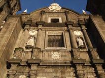 Puebla kathedraal-Mexico Stock Afbeelding
