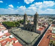 Puebla-Kathedrale Lizenzfreie Stockfotografie