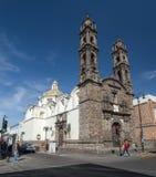 Puebla, México, Suramérica: [Ciudad de Puebla, de la calle y de la iglesia] imágenes de archivo libres de regalías