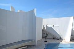 Puebla, Mexiko 6. November 2016: Äußeres des Puebla-Barock-Museums lizenzfreies stockfoto