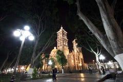 Puebla por noche Imagen de archivo libre de regalías