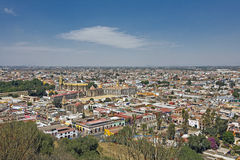 Puebla stadssikt, Mexico Arkivbilder