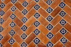 Puebla tiles. In the city in mexico Stock Images