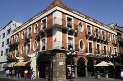 Puebla van de binnenstad Stock Foto