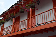 Pueblito的Paisa阳台 库存图片
