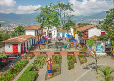Pueblito Paisa Medellin Colombie Images libres de droits