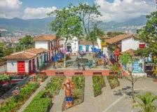 Pueblito Paisa Medellin Kolumbia Obrazy Royalty Free