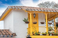 Pueblito Paisa in Nutibara-Heuvel, Medellin-stad in Colombia Stock Afbeelding