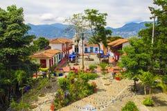 Pueblito Paisa w Nutibara wzgórzu Fotografia Royalty Free