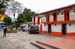 Pueblito Paisa w Nutibara wzgórzu Fotografia Stock