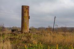 Pueblo abandonado en la estepa Imágenes de archivo libres de regalías