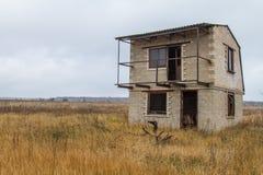 Pueblo abandonado en la estepa Imagen de archivo libre de regalías