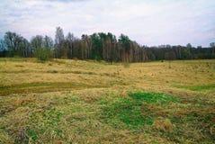 Pueblo abandonado en la primavera en Rusia Fotografía de archivo