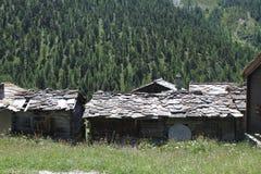 Pueblo abandonado en Zermatt, Suiza fotos de archivo libres de regalías