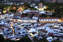 Pueblo andaluso di Mijas del villaggio Fotografia Stock Libera da Diritti
