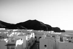 Pueblo andaluz blanco y negro Fotografía de archivo libre de regalías