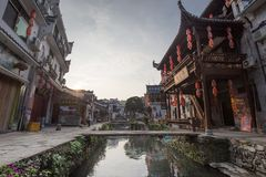 Pueblo antiguo China, WuYuan, Jiangxi, China imágenes de archivo libres de regalías