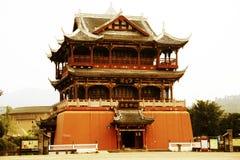 Pueblo antiguo chino, ciudad antigua de Luodai Imagenes de archivo