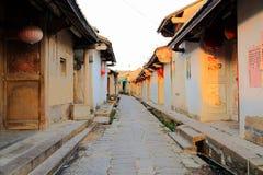 Pueblo antiguo de Longhu de la ciudad de Shantou, Guangdong, China fotos de archivo