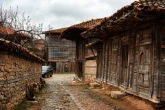 Pueblo arquitectónico de Zheravna de la reserva, Bulgaria Foto de archivo libre de regalías