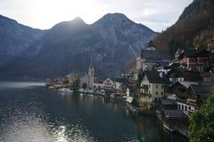 Pueblo Austria de Hallstatt imagenes de archivo