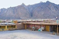Pueblo beduino Imagen de archivo libre de regalías