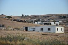 Pueblo beduino en el desierto israelí Negev Imágenes de archivo libres de regalías