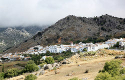 Pueblo blanco Benaocaz in Andalusia, Spain Stock Photography