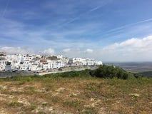 Pueblo blanco de España Barbate Foto de archivo libre de regalías