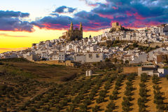 The Pueblo Blanco of Olvera, Spain. Royalty Free Stock Images
