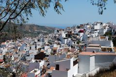 Pueblo Blanco, Torrox, Spain. Royalty Free Stock Images