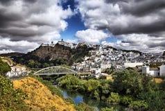 Pueblo Blanco. View of Arcos de La Frontera town, Spain Stock Photography
