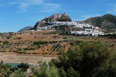 Pueblo blanco, Zahara de la Sierra, Spain. Royalty Free Stock Photo