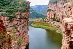 Pueblo China de la zanja de la zanja de diez gargantas ninguna garganta del día en camino de la pared de la ciudad de Xingtai de  Fotos de archivo libres de regalías