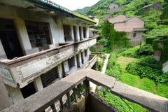 Pueblo chino abandonado Fotografía de archivo libre de regalías